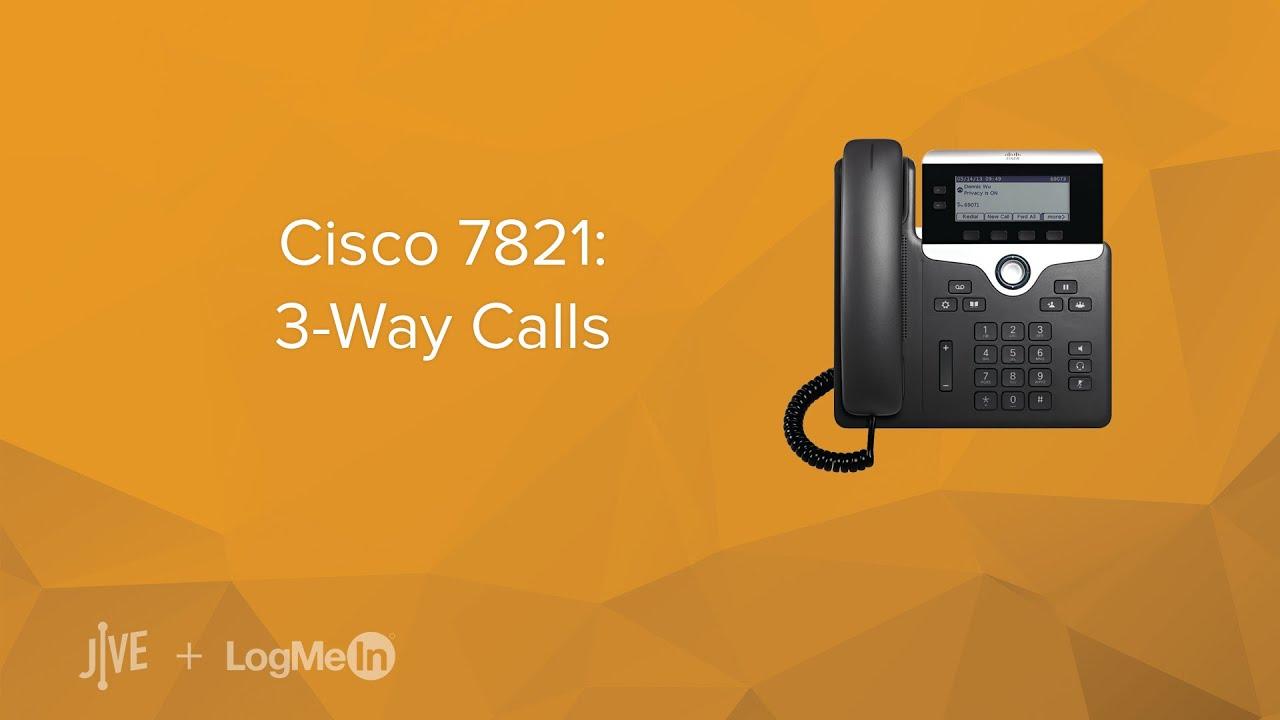 Cisco 7821 -- How do I start a 3-way call? - YouTube