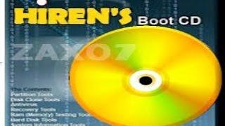 شرح تشغيل برامج أسطوانة الهيرن hiren