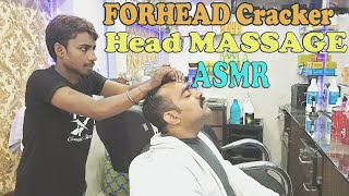 Head massage by forehead cracker - no talking ASMR