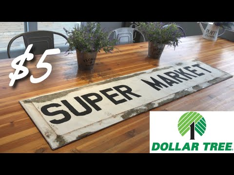 DOLLAR TREE FARMHOUSE DIY || FARMHOUSE KITCHEN DECOR