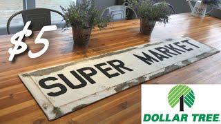 DOLLAR TREE FARMHOUSE DIY || FARMHOUSE KITCHEN DECOR