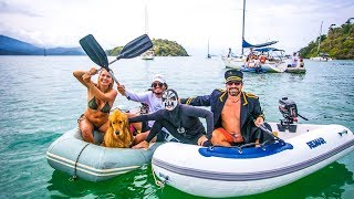 Brazil's FAMOUS Dinghy Regatta, Churrasco, and Cachaca! Sailing vessel Delos Ep.180 thumbnail
