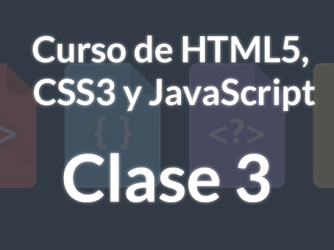Curso HTML, CSS Y JS - 3. Etiquetas HTML5