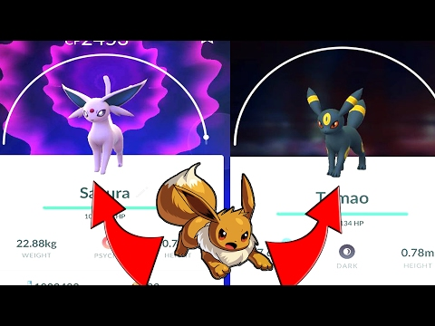 How To Get Espeon And Umbreon In Pokemon GO! Naming Trick Generation 2 W/ YellowSwellow
