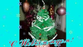 видео Как сделать новогоднюю ёлку из фатина своими руками?