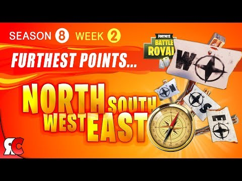 Fortnite WEEK 2 Visit the Furthest Points on the Map (Season 8 Furthest North, South, East & West)