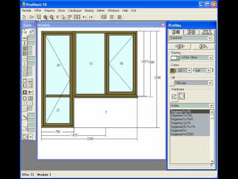 Profiles Software For Windows And Doors Design Sills
