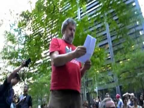 Slavoj Zizek at OWS, Oct 9, 2011 [Full Edition with English subtitles]