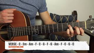 Can t help falling in Love Acoustic Guitar Lesson in Fingerstyle