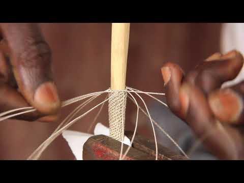Woven Hollow Wire Bracelet