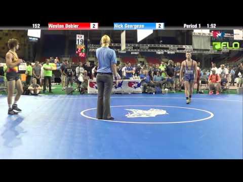 Junior 152 - Weston Dobler (North Dakota) vs. Nick Georgean (Illinois)