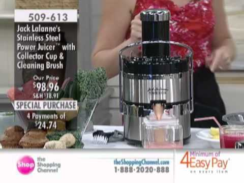 Jack LaLanne Stainless Steel Power Juicer at The Shopping Channel 509613