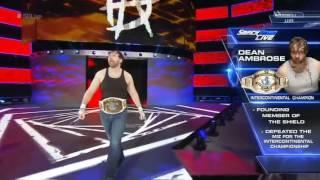 Dean ambrose vs the Miz lumberjack match for Intercontinental championship