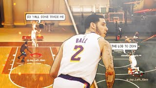 *NEW* DYNAMIC DUO 98 OVERALL LONZO BALL and ZION WILLIAMSON are OVERPOWERED on NBA2K19