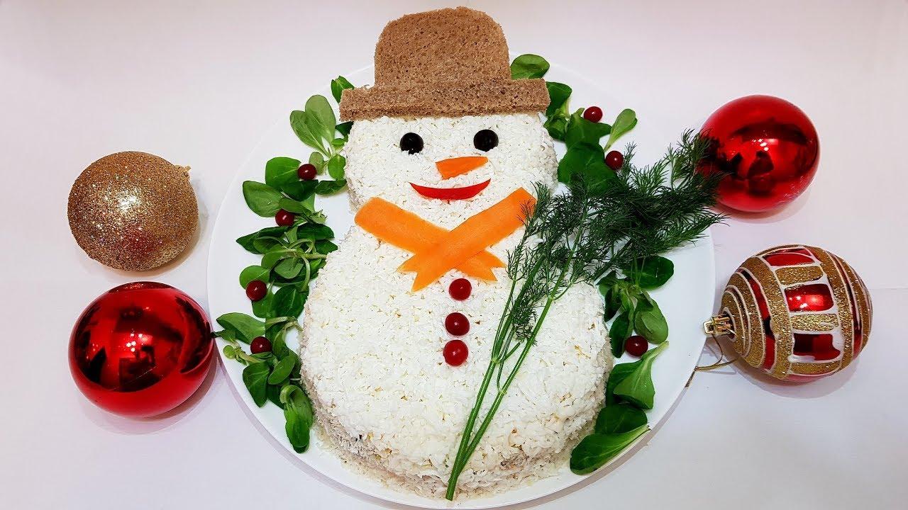 снеговик на новогодний стол рецепт с фото ярких птичек