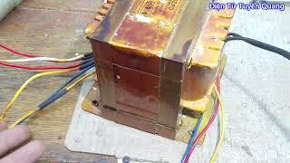 Điện Tử Căn Bản - Xác định điện áp các đầu ra biến áp âm ly mất dấu