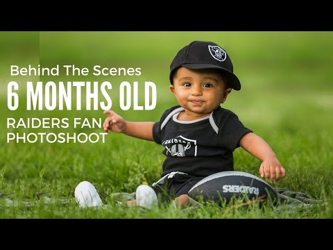 Raiders Fans Family With Six Months Baby Boy Photoshoot, Kids Photography Behind The Scenes