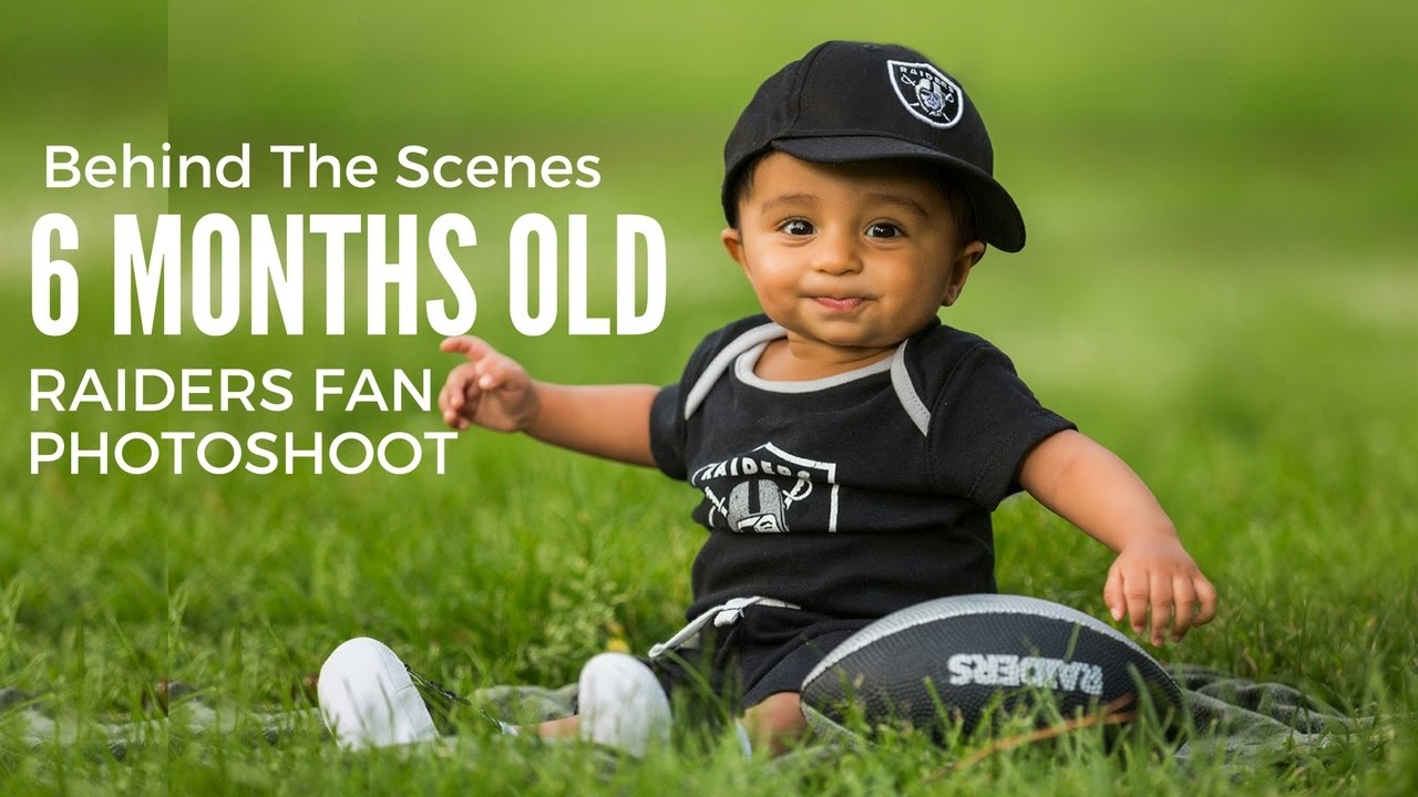 Raiders fans family with six months baby boy photoshoot kids photography behind the scenes