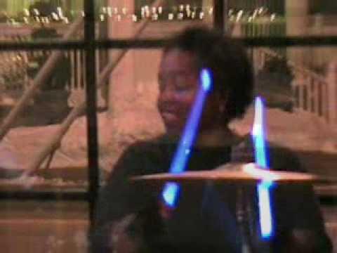 """Drummer GWEN FREDERICK: rocking """"BLUE"""" DRUM SOLO w..."""