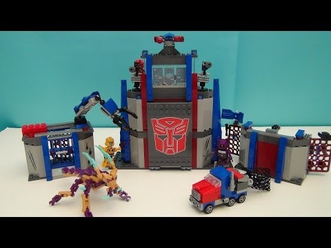 TRANSFORMERS KRE-O AUTOBOT COMMAND CENTER PLAYSET BUILD VIDEO REVIEW