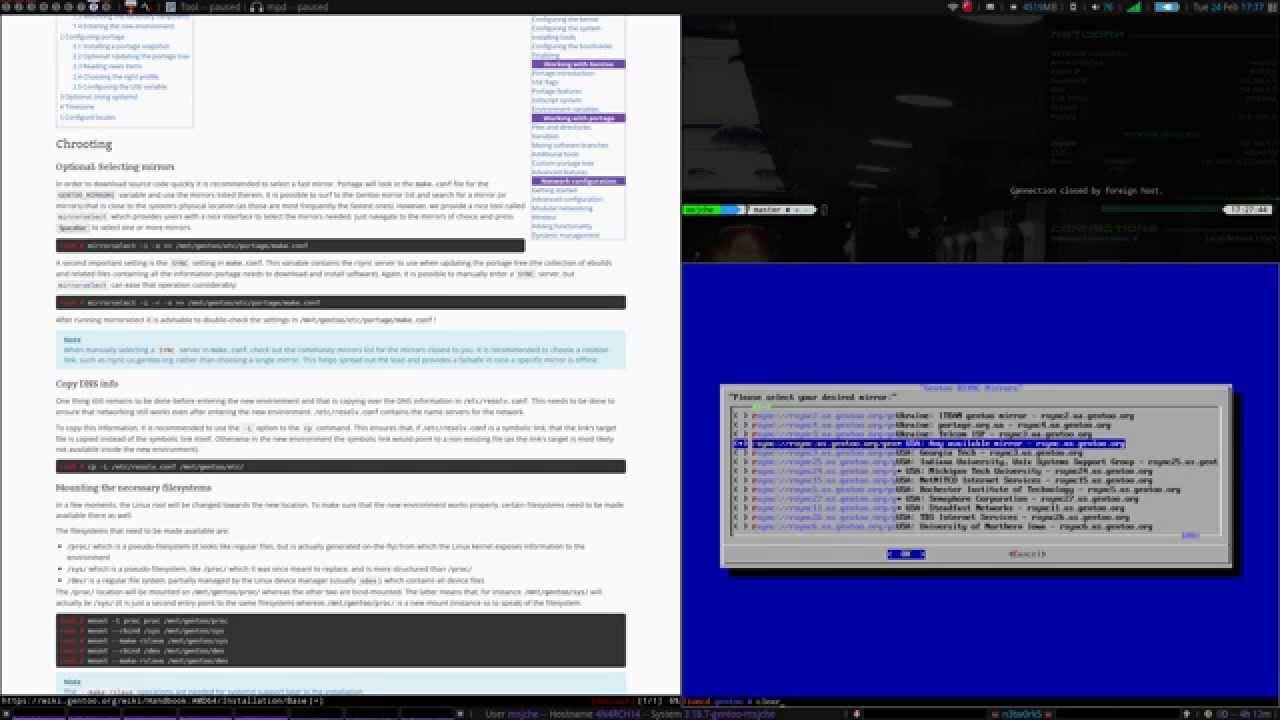 Full Gentoo Install Tutorial - pt 1 - Gentoo Base Install