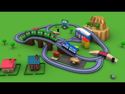Police Train - Trains for kids - Trains Video - Choo Choo Train - Toy Train for kids - Toy Factory