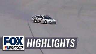 Danica Patrick Sends Brad Keselowki on Massive Slide - Talladega - 2014 NASCAR Sprint Cup