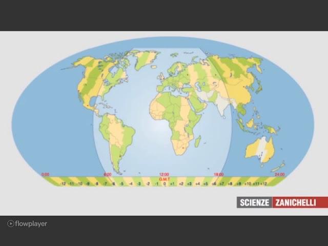 Cartina Fusi Orari Mondo.I Fusi Orari Youtube
