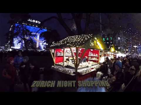 Zurich Night Shopping, Super HD 1080p