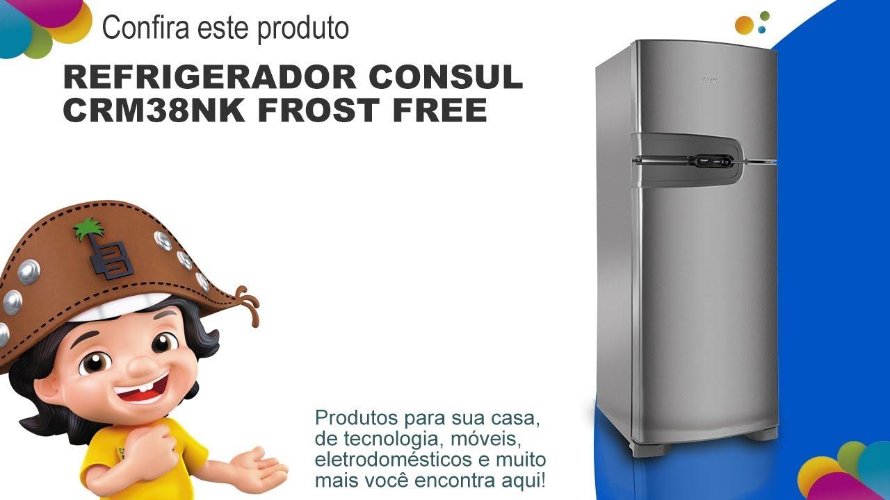 faf06bb637 Refrigerador Consul CRM38NK Frost Free