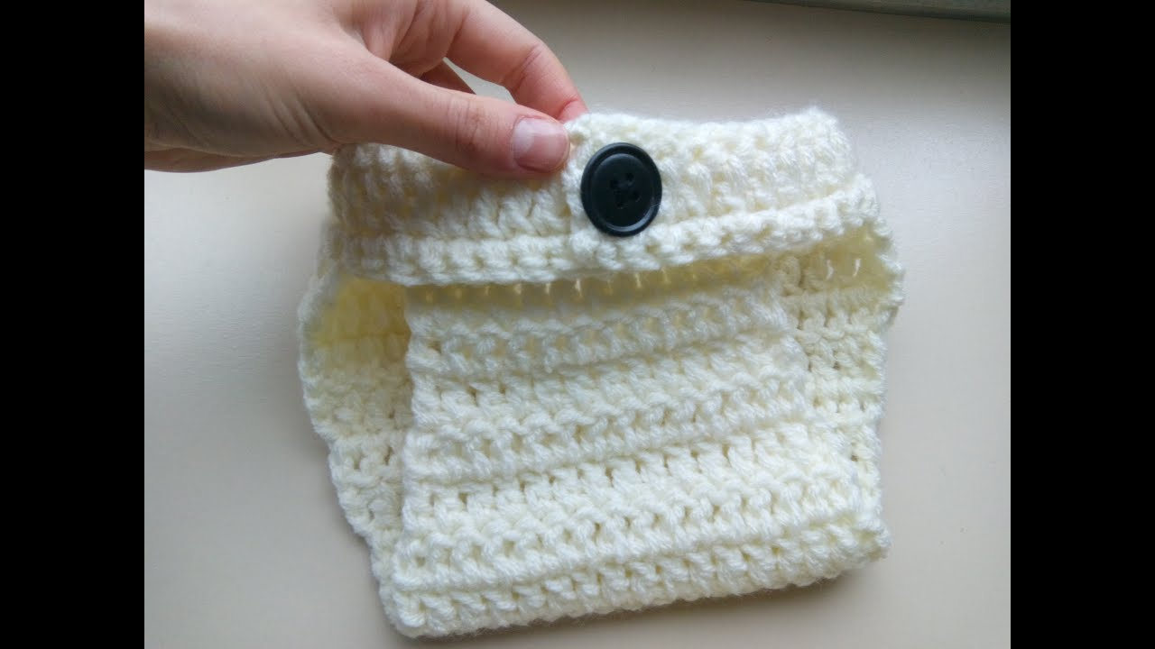 how to crochet simple diaper cover - YouTube