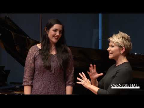 """Joyce DiDonato Master Class October 2016: Barber's """"Must the winter come so soon?"""" from Vanessa"""
