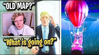 TFUE REACTS to LIVE UNDERWATER FLOOD Event! (Fortnite Season 3)