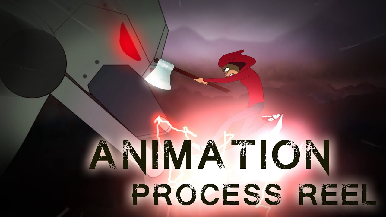 2D Animation Progression Reel Little Red Robot Hunter 2015