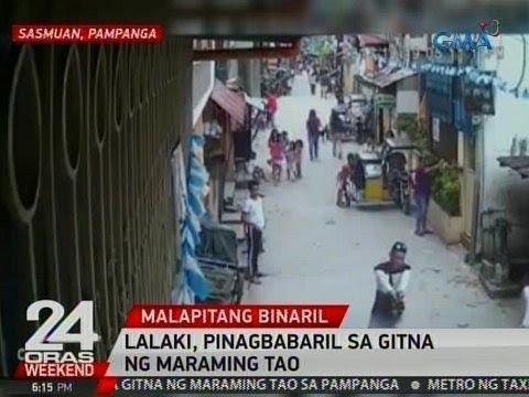 24 Oras: Lalaki, pinagbabaril sa gitna ng maraming tao sa Sasmuan, Pampanga