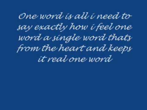 One word by Elliot Yamin with lyrics