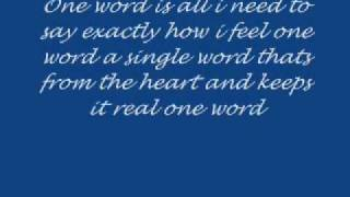 Download One word by Elliot Yamin with lyrics MP3 song and Music Video