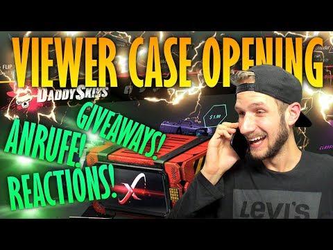 NEUES FORMAT! exSy ruft an! Case Opening! Free Cases für JEDEN auf DaddySkins!