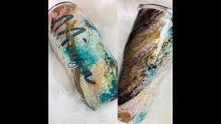 DIY Embedded Opal Glitter Tumbler