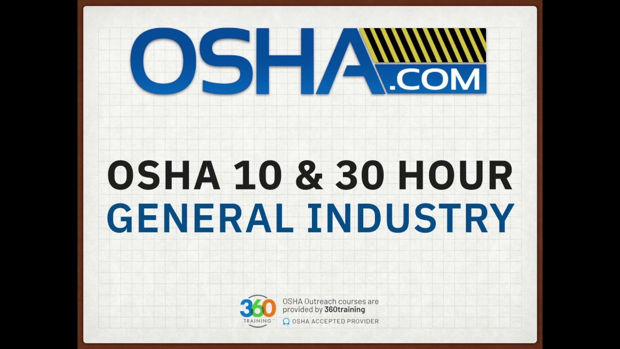 $21.21 OSHA 21 Hour General Industry Course - OSHA.com Throughout Osha 10 Card Template