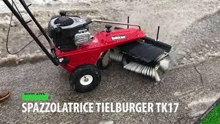 TIELBURGER TK17 - Spazzolatrice per la pulizia della neve dai marciapiedi