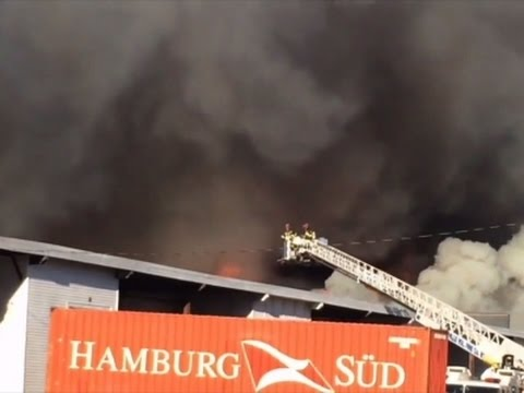 Raw: NJ Warehouse Fire Burning Out of Control
