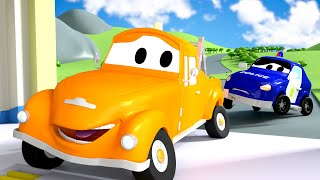 Baby Matt the Police Car and Tom the Tow Truck in Car City Street Vehicles for Kids