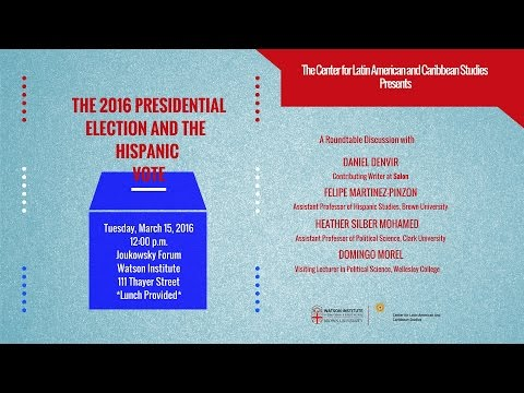 The 2016 Presidential Election and the Hispanic Vote