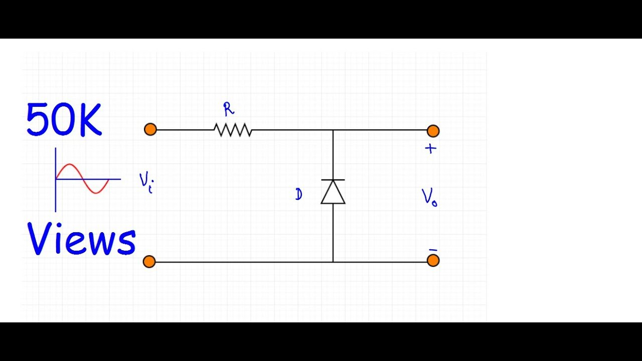 clipper positive and negative clipper circuit w subtitles  [ 1280 x 720 Pixel ]