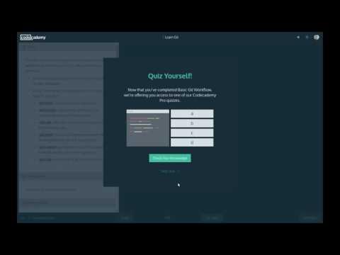 Codecademy Tools - Learn Git