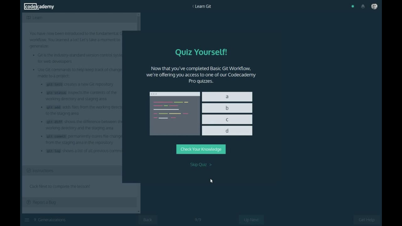 Codecademy Tools - Learn Git