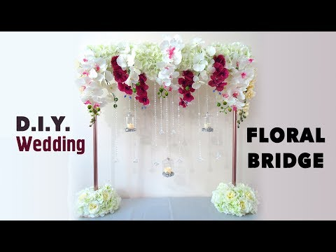 DIY Tall Floral Bridge Wedding Table Stand Centerpiece - Easy - under $15