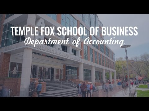Temple University Fox School of Business: Department of Accounting