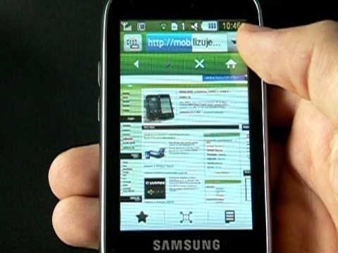 Samsung S5560 - internetový prohlížeč